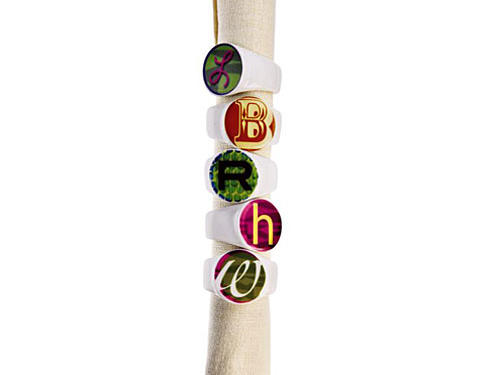 Alphabet Napkin Rings