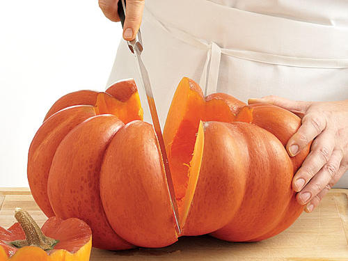 Pumpkin Cooking Preparation Halving