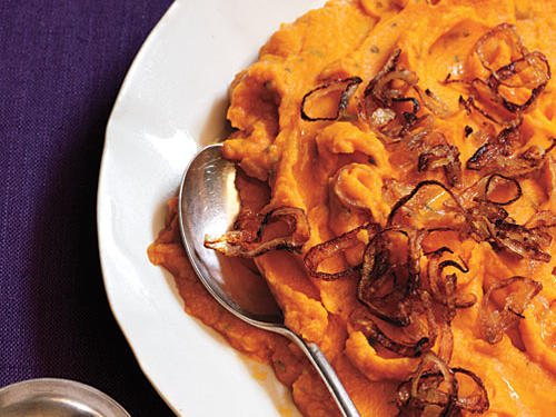Rosemary Mashed Sweet Potatoes with Shallots Recipes