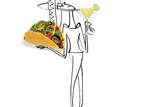 Navigating Mexican Menu Illustration