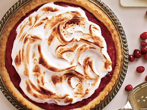 December: Meringue-Topped Cranberry Curd Tart