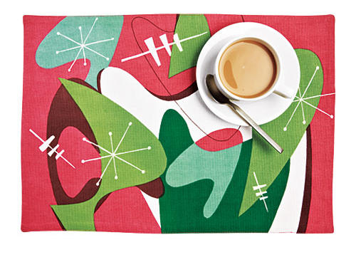 Swizzlestix Retro Holiday Placemats
