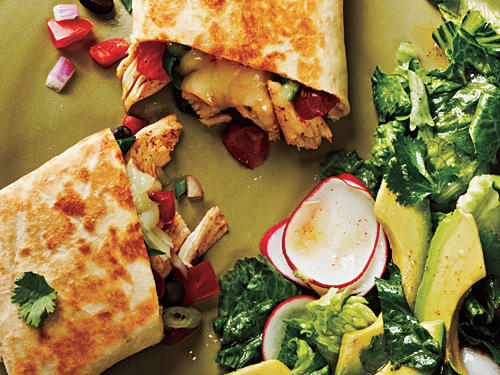 Chicken and Black Bean-Stuffed Burritos Recipes