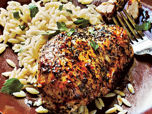 Herb-Crusted Chicken and Parsley Orzo