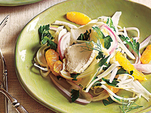 Fennel Salad with Meyer Lemon and Goat Cheese