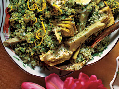 Quinoa Salad with Artichokes and Parsley