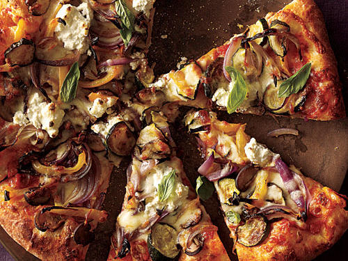 Healthy Roasted Vegetable and Ricotta Pizza Recipe