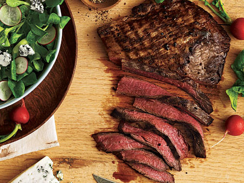 Steak with Cucumber-Radish Salad Recipe