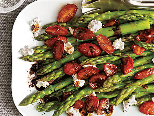 Asparagus with Balsamic Tomatoes Recipe
