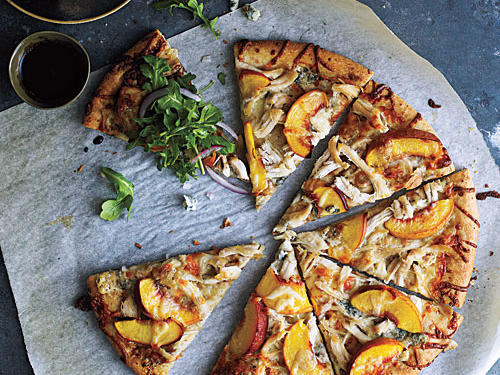 Peach and Gorgonzola Chicken Pizza Recipes