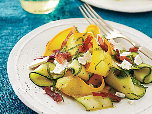 1601 Shaved Summer Squash Salad with Prosciutto Crisps
