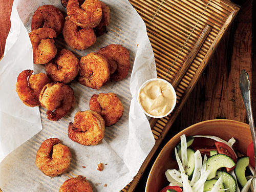 Pan-Fried Shrimp with Creole Mayonnaise Recipe