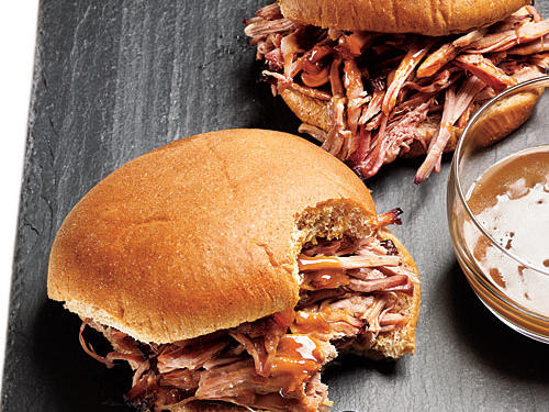Pulled Pork Sandwiches with Mustard Sauce