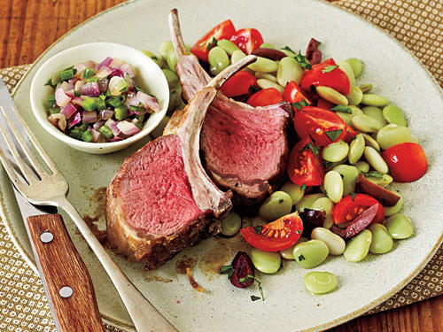 Lamb Chops and Cilantro Relish Recipe
