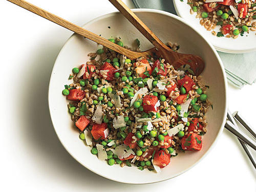 Summer Pea, Watermelon, and Farro Salad Recipe