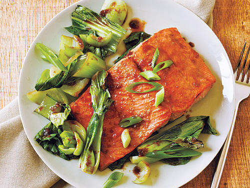 1204 Salmon and Bok Choy