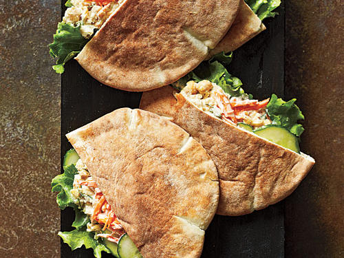 Mashed Chickpea Pitas Recipe