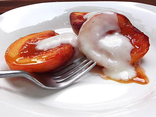 Christiane's Bourbon-Glazed Peaches With Yogurt