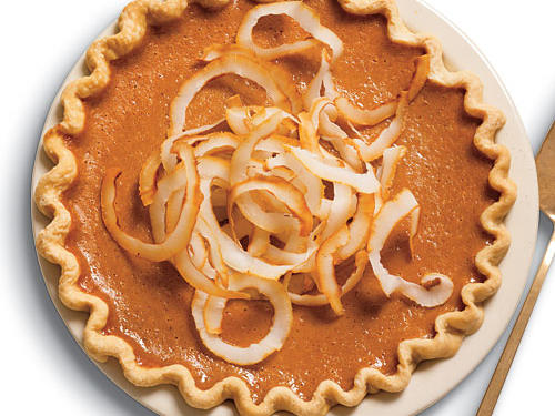 Ginger Pumpkin Pie with Toasted Coconut Recipe