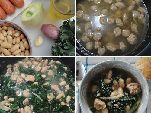 Shannon's Kale, Bean, and Sausage Soup with Parmesan Cheese