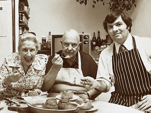 Helen McCully, James Beard, and a young Pépin