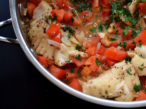 Allison's Spanish-Style Cod in Tomato Broth