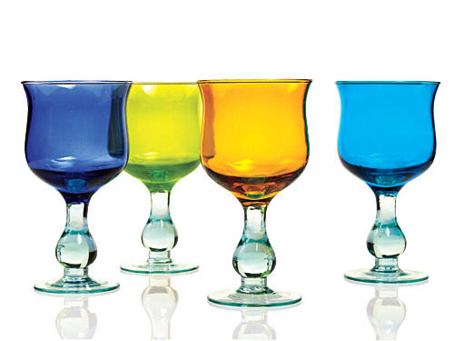 Vietri Recycled Prism Wine Glasses