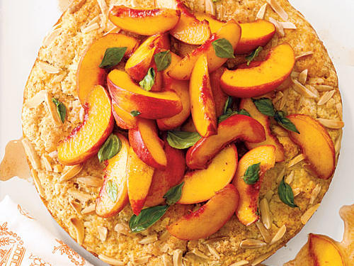 Peach and Basil Shortcake Recipe