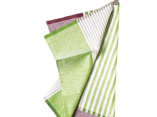 Pastry Stripe Kitchen Towels - Set of 2