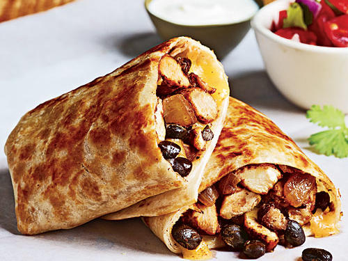 Chicken and Bean Burritos