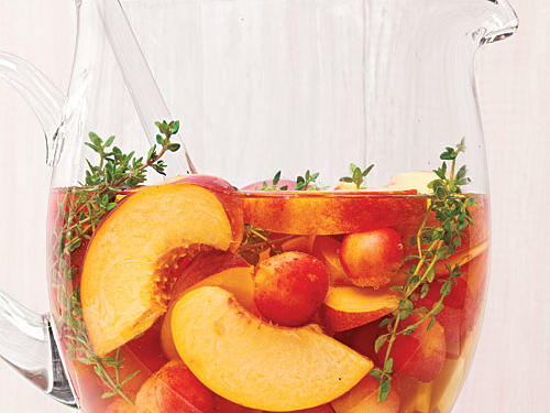 Cherry-Peach Sangria