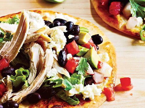 Chicken Tostadas with Avocado Salsa