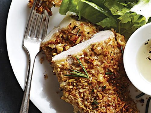 Healthy Dinner Recipes: Walnut and Rosemary Oven-Fried Chicken
