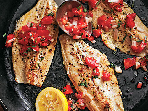 Rainbow Trout with Smoked Tomato Salsa