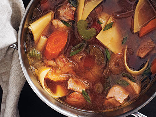 Rich Chicken Soup with Fresh Noodles