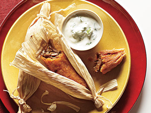 The Best Chipotle Pork Tamales with Cilantro-Lime Crema