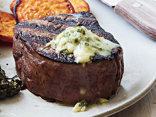 Pan-Seared Steak with Chive-Horseradish Butter