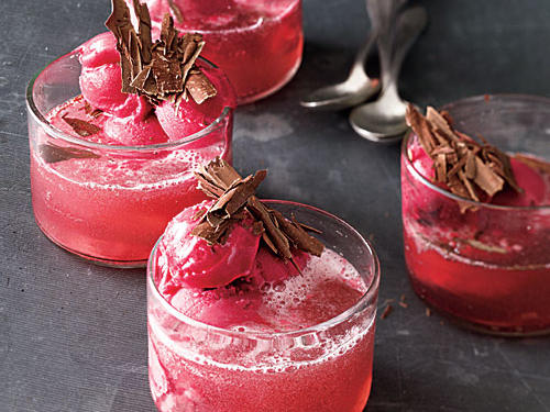 Sparkling Raspberry Parfaits