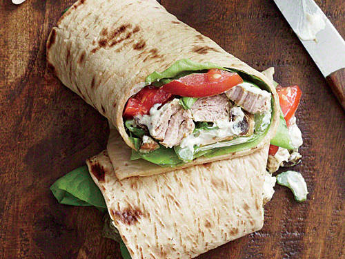 Curried Pork Salad Wraps
