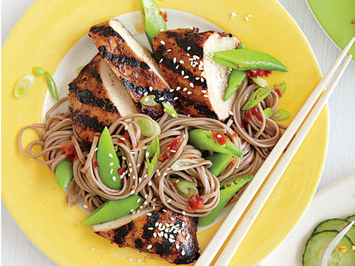 Hoisin-Grilled Chicken with Soba Noodles