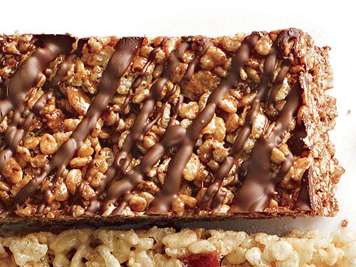 Double Chocolate Chewy Crispy Bars