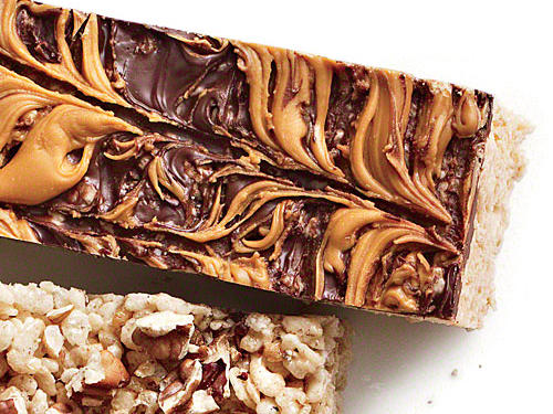 Chocolate Butterscotch Chewy Crispy Bars