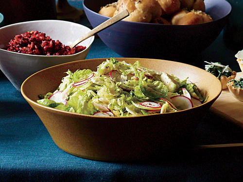 Sweet and Sour Brussels Sprout Salad