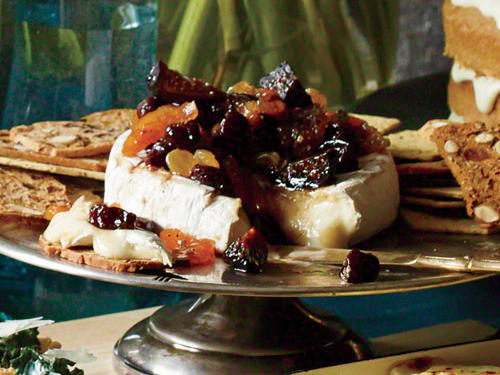 Brie with Jeweled Fruit Compote