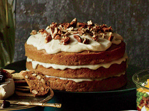 Carrot-Apple Spice Cake with Browned-Butter Glaze