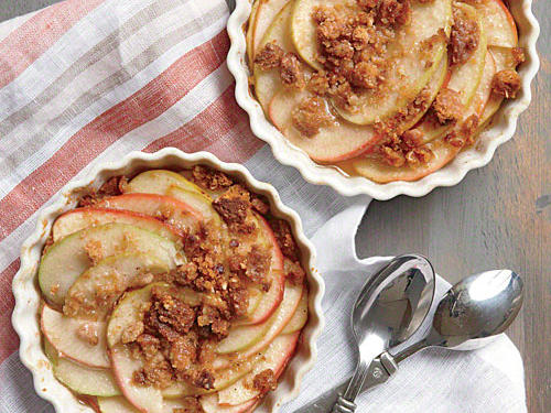 Easy Individual Apple Crisps