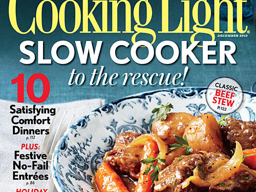 Cooking Light December 2013 Cover