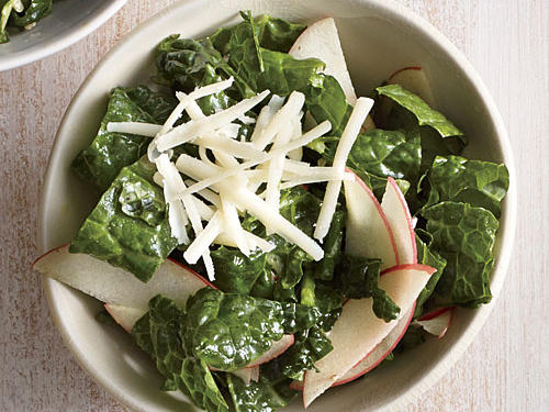 Kale Salad with Apple and Cheddar
