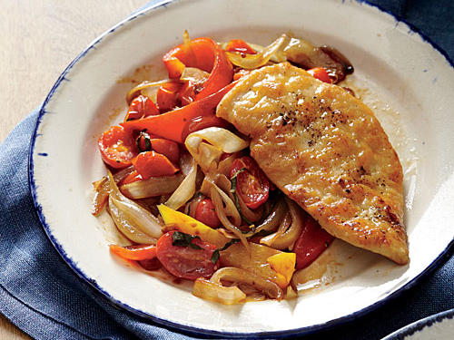 Chicken Scaloppine with Peperonata