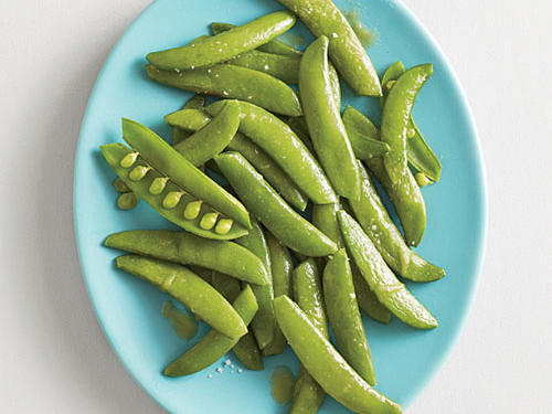 Steamed Snap Peas with Wasabi Butter